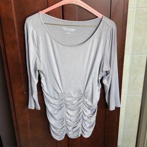 Soft Surroundings - Gray 3/4 sleeve tunic